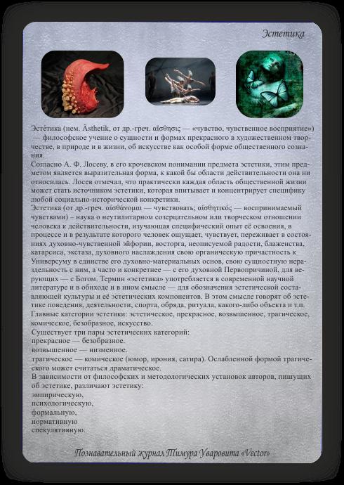 познавательный журнал Тимура Уваровита Vector, эстетика